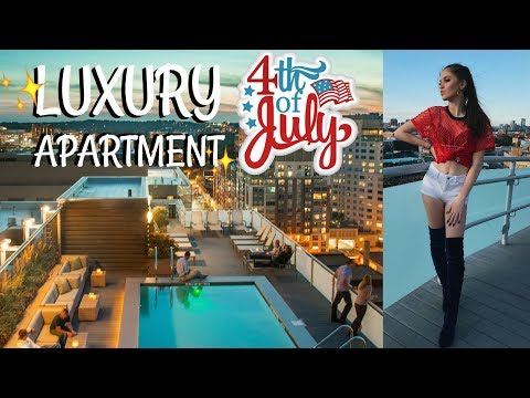 LUXURY 4TH OF JULY APARTMENT PARTY VLOG