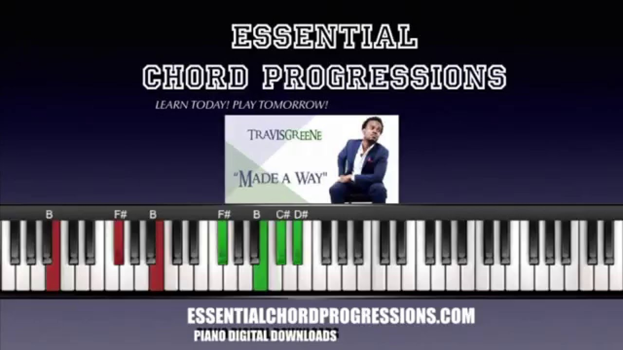 Chords to made a way by travis greene easy piano tutorial youtube hexwebz Image collections
