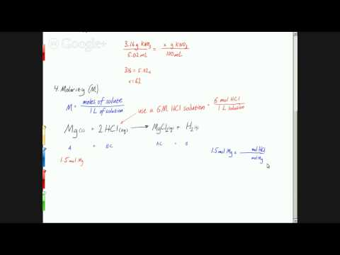 CHM 100-005 - Concentrations and osmotic pressure
