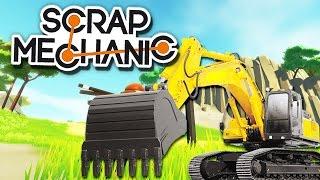 Экскаватор без МОДов | СКИЛЛ в Scrap Mechanic