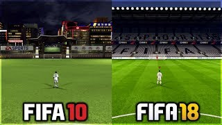 EVERY PRACTICE ARENA FROM FIFA 10 TO FIFA 18