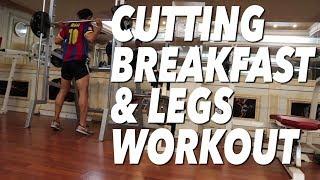 """CUTTING"" BREAKFAST & LEGS WORKOUT | SAIF"