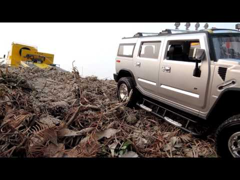 Realistic RC experience _ Heavy Transport Benz Hummer H2 self-loader wrecking image story
