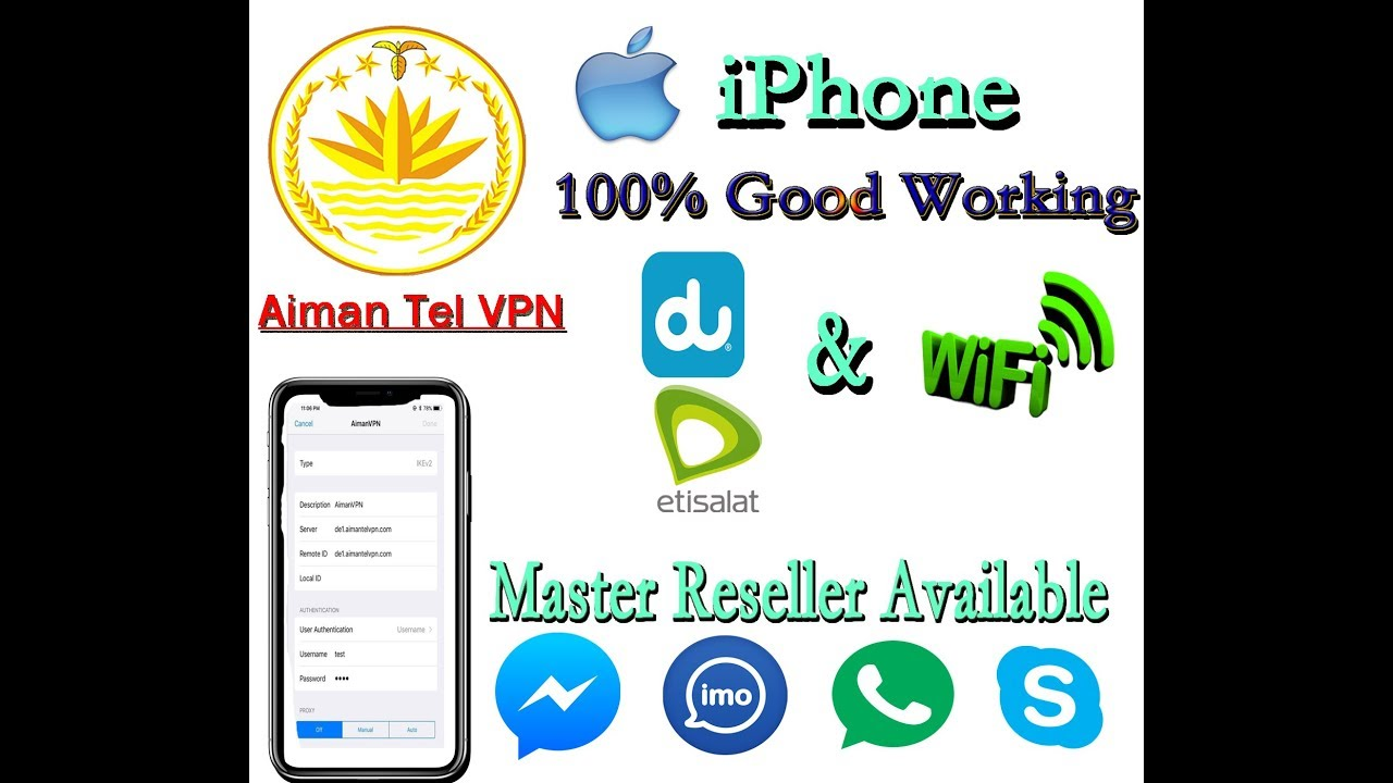 Any Connect Vpn Etisalat WIFI iPhone settings