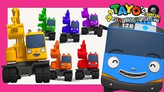 *NEW* Tayo Strong Heavy Vehicles Song l Poco Color Song l Tayo Sing Along Special l The Brave Cars