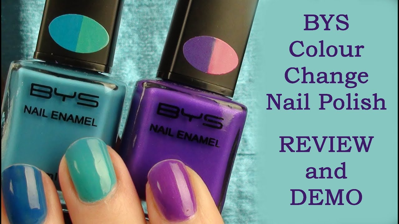 REVIEW and DEMO - BYS Colour Change Nail Polish - YouTube
