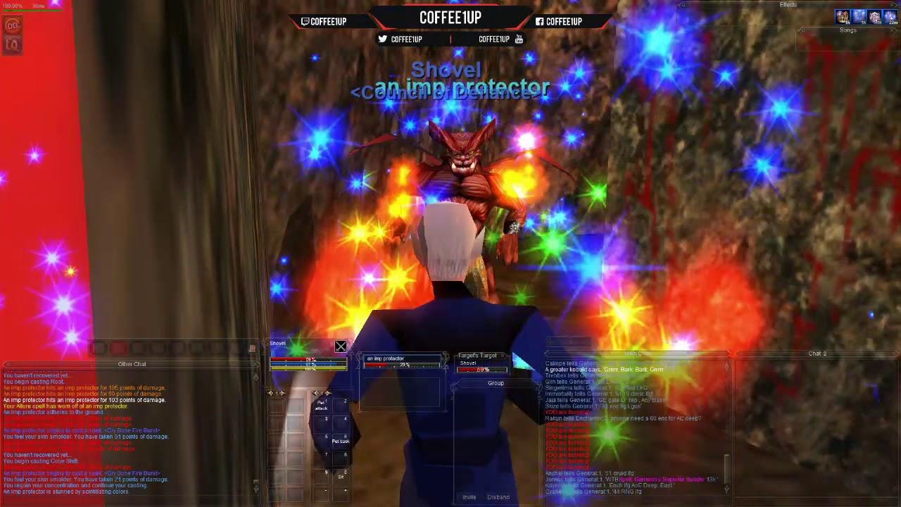 Efreeti Lord Djarn camp Solo as 50 Enchanter [Agnarr Server]