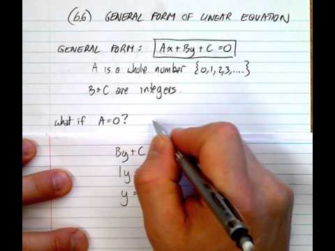 (6.6)  General Form of Linear Equation