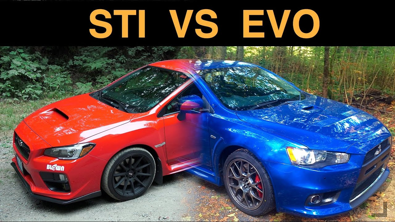 Subaru WRX STI vs Mitsubishi EVO X Which AWD Sedan Is Best