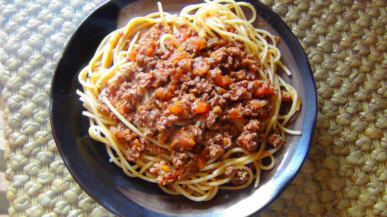 соус для макарон с фаршем простой рецепт