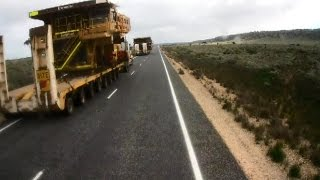 How to Overtake a 155 Ton Wide Load with a 80 Ton Roadtrain