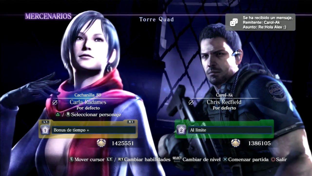 Resident Evil 6 Torre Quadcarla Radames Chris Redfield Bsaa Combo