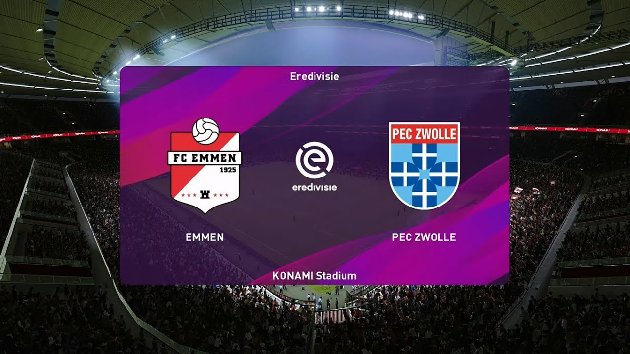 Fc Emmen Vs Pec Zwolle Club Friendlies 24 08 2020 Pes 2020 Youtube