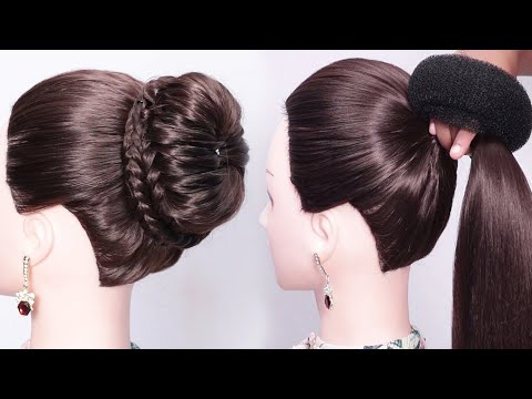 new bun hairstyle for wedding and party    trending hairstyles    party hairstyle    updo hairstyles thumbnail