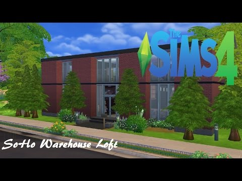 SoHo Warehouse Loft - Sims 4 SpeedBuild