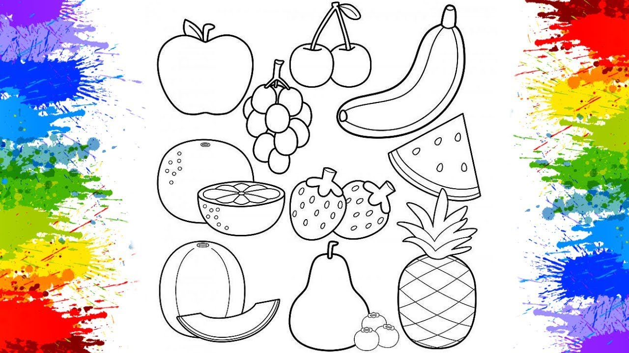- Coloring Fruits For Kids Coloring Book Drawing For Kids How To