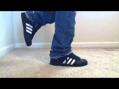adidas superstar black on feet