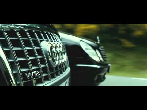 TRANSPORTER 3 - Audi A8 vs. Mercedes E-class [HD] thumbnail