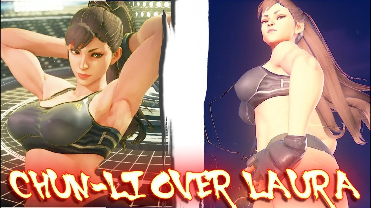 Street Fighter V PC AE mods - chunli sparring swap laura by robhal