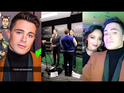 Colton Haynes | Arrow 100-Episode Celebration Party | Snapchat Videos