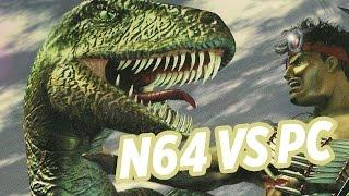 turok n64 vs pc image quality comparison n64 ultrahdmi mod