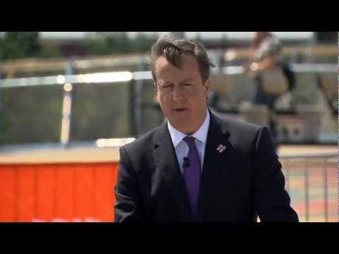 London 2012: David Cameron  apologises for the North Korea Flag mistake