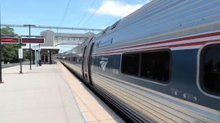(HD) Amtrak Train # 163 @ Old Saybrook, CT (ANNOUNCEMENT)