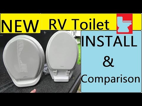 RV Toilet Upgrade Install and Comparison - YouTube