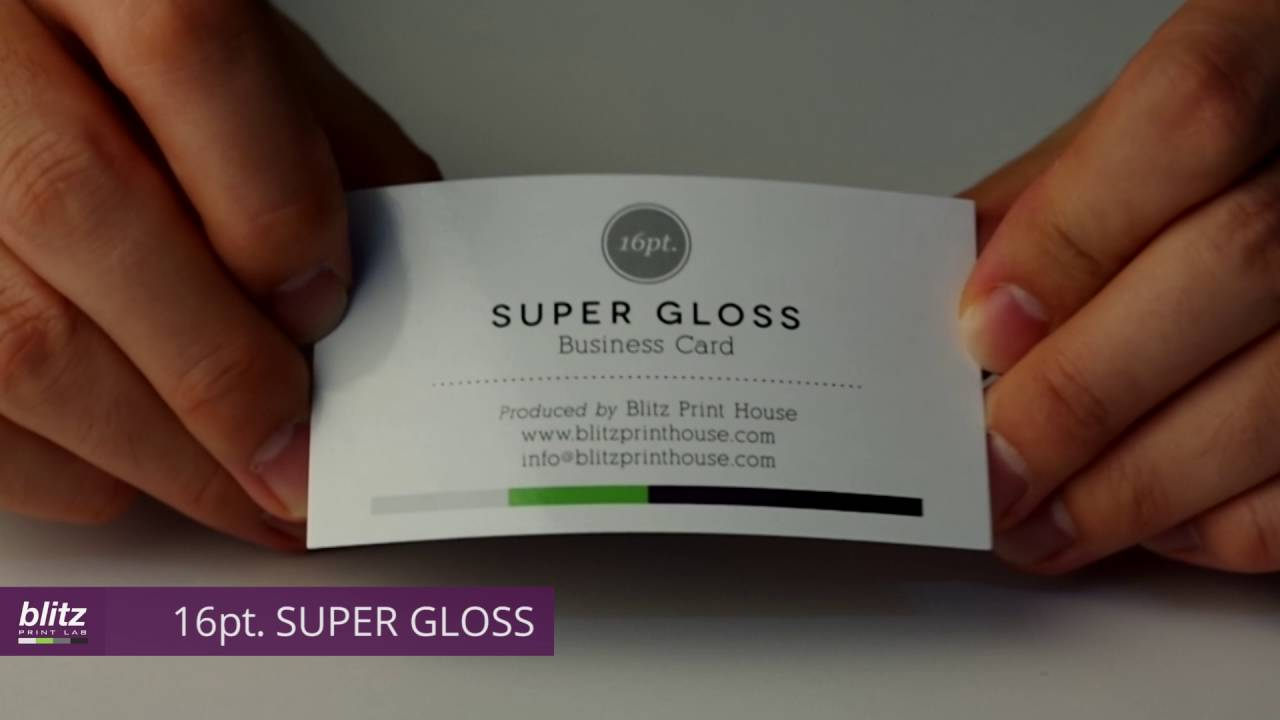 16pt SUPER GLOSS Business Card by Blitz Print House - YouTube