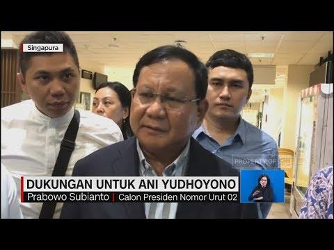 Jenguk Ani Yudhoyono, Prabowo Doakan Kesembuhan & Kelancaran