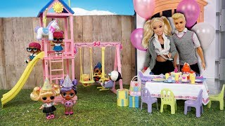 Barbie LOL Family  Surprise Birthday Party in The Playground
