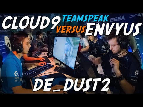 CS:GO - Cloud9 [teamspeak] vs Team EnVyUs (dust2) @ ESL ESEA Pro League Finals