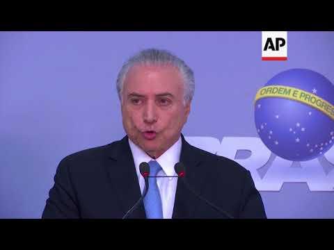Brazil - Ex-Brazilian President Lula convicted of corruption / Temer faces vote in Congress / Temer
