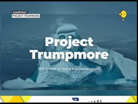 Environmental group to carve Trump's face into iceberg to prove man made climate change