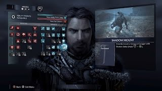 """Middle-earth: Shadow of Mordor Tips and Tricks - Must Have Abilities Part 1 """"Shadow Mount"""""""