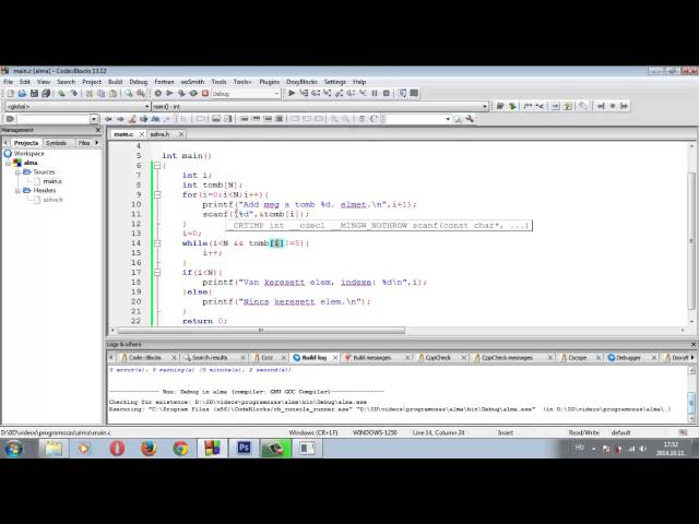 Programozási Tételek - Lineáris Keresés