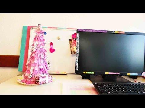 Pinken Weihnachtsbaum basteln | Deko für Weihnachten selber machen | Highlight Christmas DIY Girly