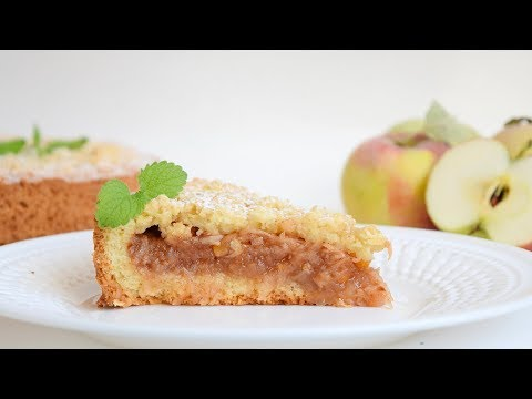 Шикарный ЯБЛОЧНЫЙ пирог из песочного теста!!! Пошаговый рецепт!
