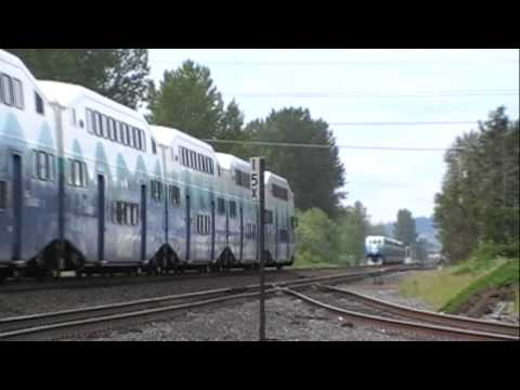Train Meet - 2 SOUNDER Commuter Trains