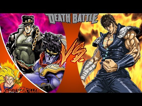 Jotaro VS Kenshiro (JoJo's Bizarre Adventure VS Fist of the North Star) _ DEATH BATTLE! REACTION!!!