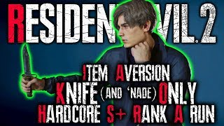 AT IT AGAIN! || Item Aversion (100 Items or Less) with Knife & 'nade Only || Resident Evil 2 Remake