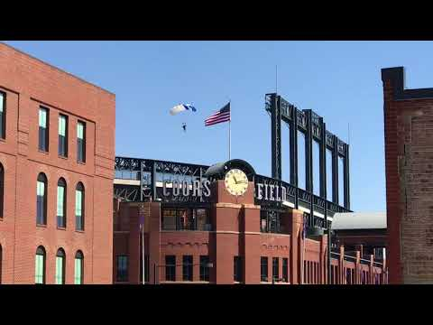 Skydiving Into Coors Field Rockies Game