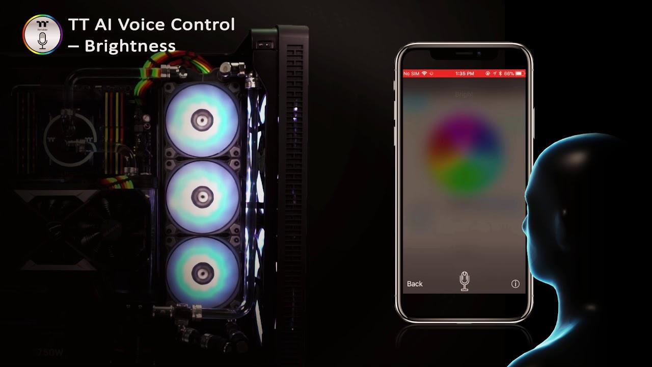 Thermaltake Pure Plus 12/14 LED RGB Radiator Fan TT Premium Edition TT AI  Voice Control Demo