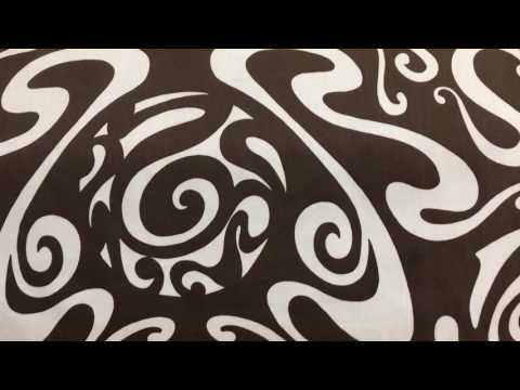 """Brown White Abstract Scrollwork Clothing Drapery Fabric By The Yard 54""""W Modern"""