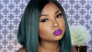 Bold Purple Lips and Cat eyeliner - Full face tutorial!