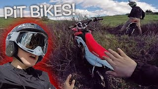 Dangerboy Rides Again! Pit Bikes In California Hills!