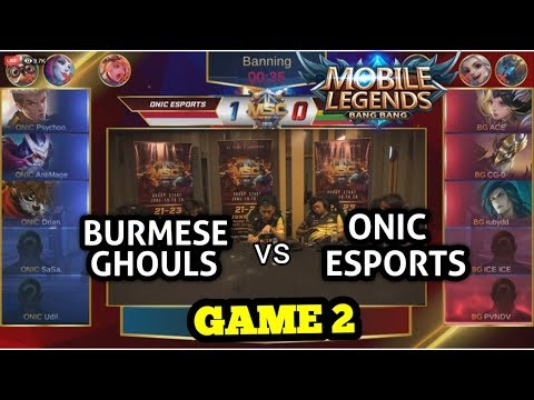 ONIC ESPORTS (ID) Vs BURMESE GHOULS (MM) GAME 2 | MSC 2019 | GROUP STAGE