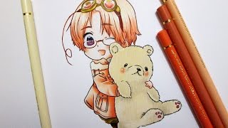 Speed Drawing Chibi Canada || Hetalia