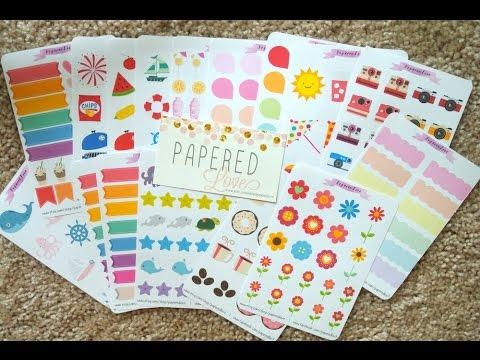 Etsy Sticker Shop Feature ~ PaperedLove