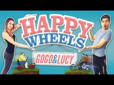 HAPPY WHEELS │NEPÚŠTAJTE ZA TO ŽENU!│GOGO & LUCY